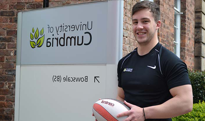 戴恩梅西, physical education student, got a placement with Leicester Tigers