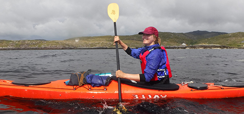MA student researching health and wellbeing through sea kayaking