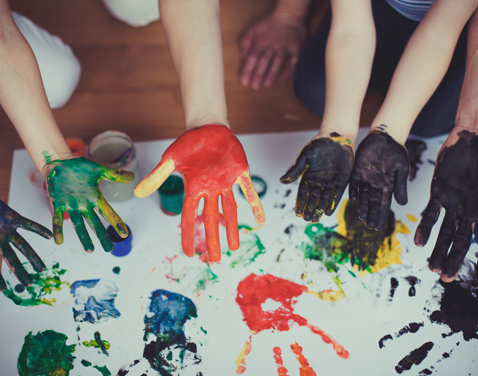 handpainting with Early years
